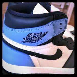 "Air Jordan retro 1 size 10 Obsidian blue ""UNC"""